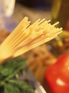 Dry Pasta, Grater, Tomato, and Herbs by Ellen Kamp
