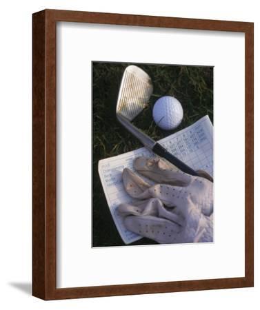 Golf Ball, Club, Golf Glove, and Score Card