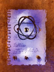 Iron Atom and Notebook by Ellen Kamp