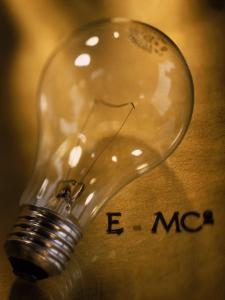 Lightbulb, Einstein's Theory of Relativity by Ellen Kamp