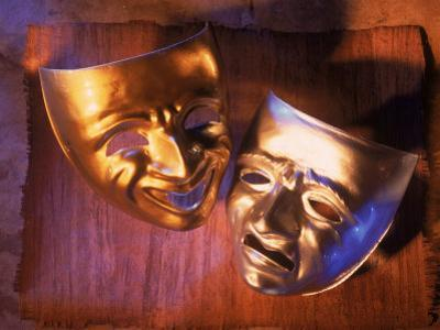 Two Theatre Masks (Comedy and Tragedy) by Ellen Kamp
