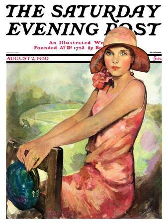 """""""Pretty in Pink,"""" Saturday Evening Post Cover, August 2, 1930"""