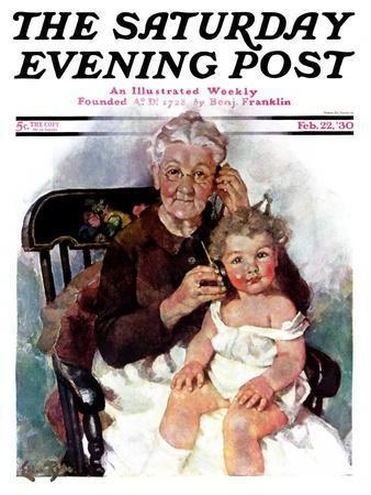 """Radio Days,"" Saturday Evening Post Cover, February 22, 1930"