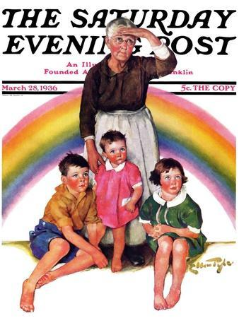"""""""Rainbow,"""" Saturday Evening Post Cover, March 28, 1936"""