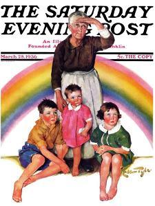 """Rainbow,"" Saturday Evening Post Cover, March 28, 1936 by Ellen Pyle"