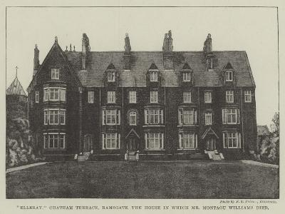 Elleray, Chatham Terrace, Ramsgate, the House in Which Mr Montagu Williams Died--Giclee Print
