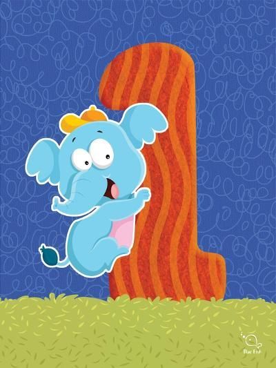 Ellie 1- Blue Fish-Art Print