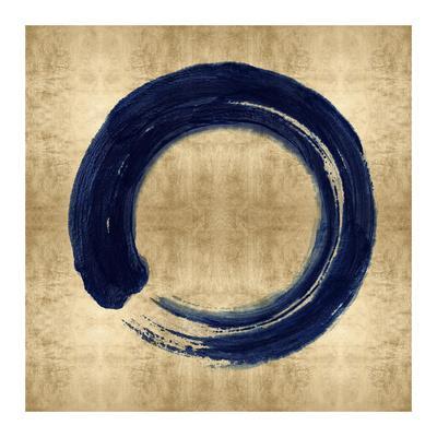 Blue Zen Circle on Gold I