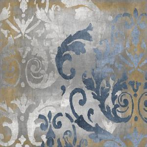 Damask in Silver and Gold I by Ellie Roberts