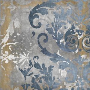 Damask in Silver and Gold II by Ellie Roberts