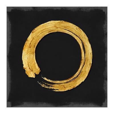 Gold Zen Circle on Black I