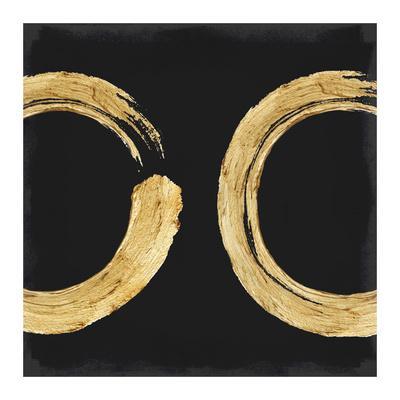 Gold Zen Circle on Black II