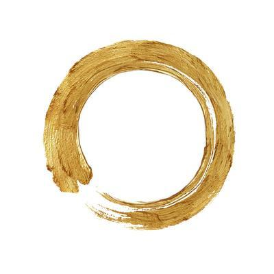 Gold Zen Circle on White I