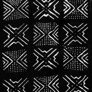 Mudcloth Black IV by Ellie Roberts