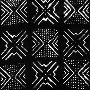 Mudcloth Black V by Ellie Roberts