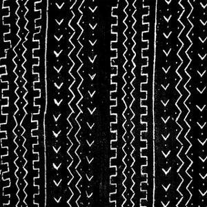 Mudcloth Black VI by Ellie Roberts
