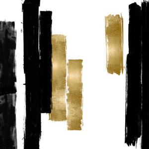 Vertical Black and Gold I by Ellie Roberts