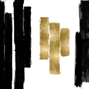 Vertical Black and Gold II by Ellie Roberts