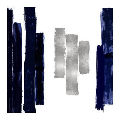 Vertical Blue and Silver II