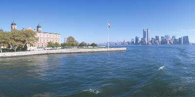 Ellis Island, Manhattan Skyline, New York--Photographic Print