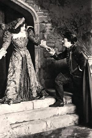 Julia Neilson and Fred Terry in a Scene from Dorothy O' the Hall, Early 20th Century