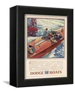 Advertisement for Dodge Boats by Ellis Wilson