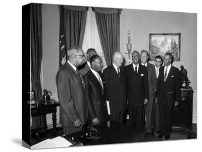 Roy Wilkins, Martin Luther King Jr., A. Phillp Randolph, Lester Granger, Dwight D. Eisenhower 1958