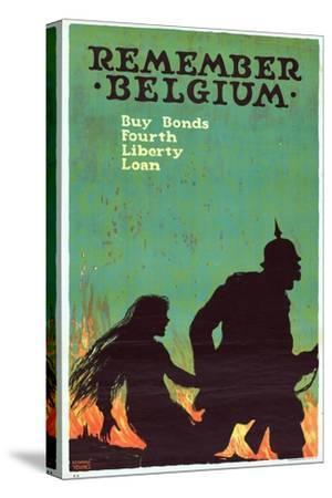 """""""Remember Belgium: Buy Bonds, Fourth Liberty Loan"""", 1918"""