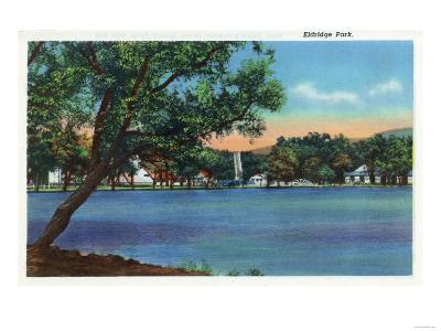 Elmira, New York - View of Eldridge Park-Lantern Press-Art Print