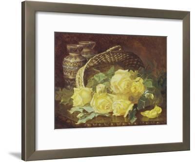 Basket of Yellow Roses