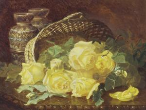 Basket of Yellow Roses by Eloise Harriet Stannard