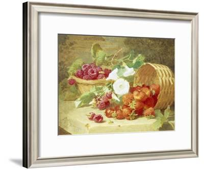 Baskets of Strawberries, Raspberries and Convolvulus