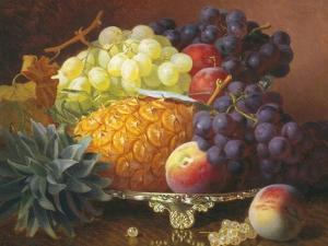 Still Life of Grapes and Pineapples by Eloise Harriet Stannard