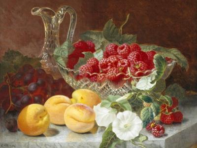 Still Life of Raspberries in a Glass Bowl by Eloise Harriet Stannard