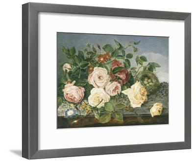 Still Life of Roses and Morning Glory