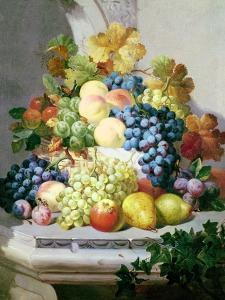 Still Life with Grapes and Pears by Eloise Harriet Stannard