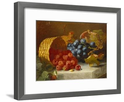Still Life with Raspberries and a Bunch of Grapes on a Marble Ledge, 1882