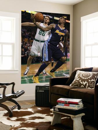 Denver Nuggets v Boston Celtics: J.R. Smith and Semih Erden