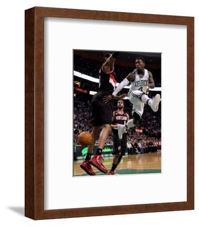 Portland Trail Blazers v Boston Celtics: Nate Robinson and LaMarcus Aldridge
