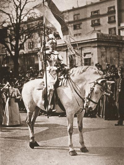 Elsie Howey as Joan of Arc, 17th April 1909--Photographic Print