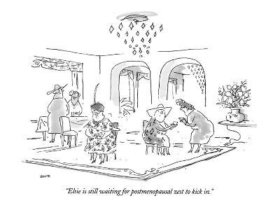 """Elsie is still waiting for postmenopausal zest to kick in."" - New Yorker Cartoon-George Booth-Premium Giclee Print"