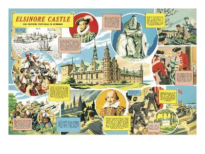 Elsinore Castle -- the Historic Fortress in Denmark-English School-Giclee Print