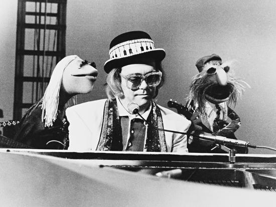 Elton John, the Muppets Show, 1976 Photographic Print by | Art com