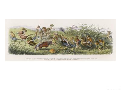 Elves and Their Tricks-Richard Doyle-Giclee Print