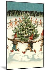 Elves Dancing around Christmas Tree