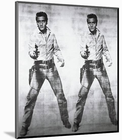 Elvis, c.1963 (double Elvis)-Andy Warhol-Mounted Giclee Print