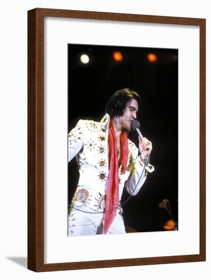 Elvis on Tour 1972 Directed by Robert Abel and Pierre Adidge--Framed Photo