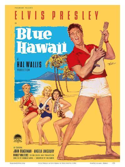 Elvis Presley in Blue Hawaii-Rolf Goetze-Art Print