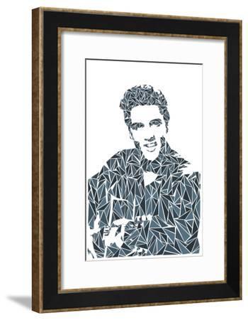 Elvis Presley-Cristian Mielu-Framed Art Print