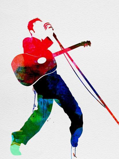 Elvis Watercolor-Lora Feldman-Art Print